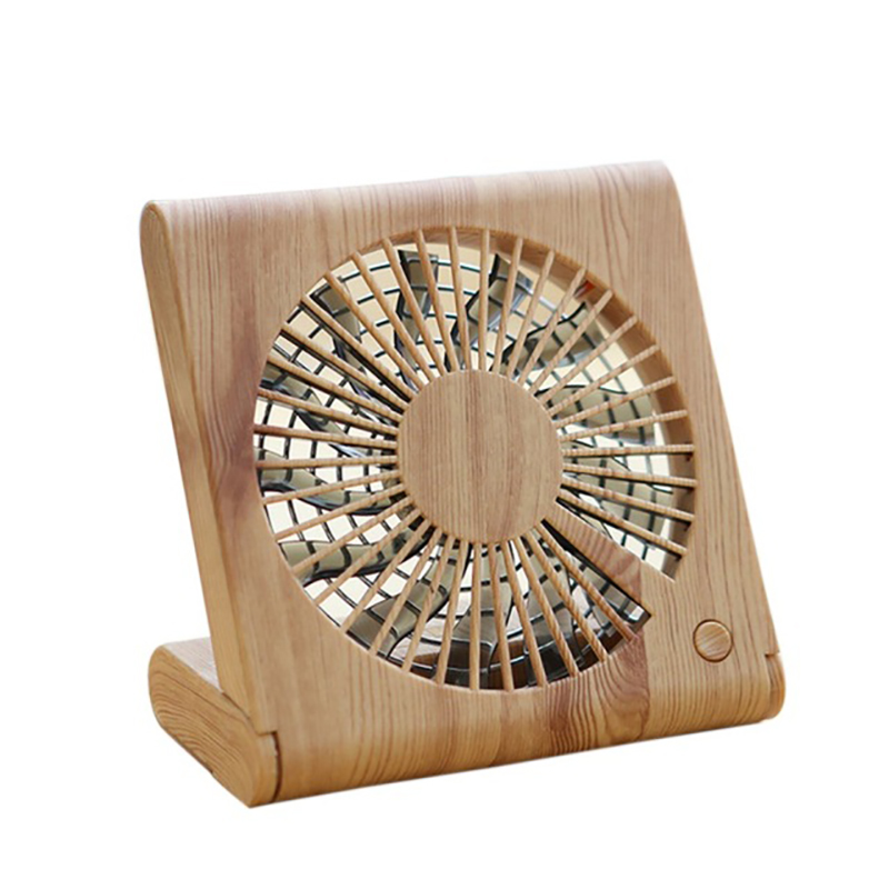 Usb 5V 4.5W Wood Grain Ultra Thin Foldable Fan For Notebook Household Appliances Cherry Blossom Wood Grain|Fans| |  - title=