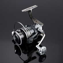 SALE!!Top quanlity Power Drag 12+1BB Spinning Fishing Reel Carp Ice Fishing Gear 5.5-4.7:1 Real casting pole rock wheel