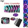 Aigo Fan Cooling Fan Computer Aigo C5 Dazzle Colour Fan Fan RGB 12 Cm Aurora A