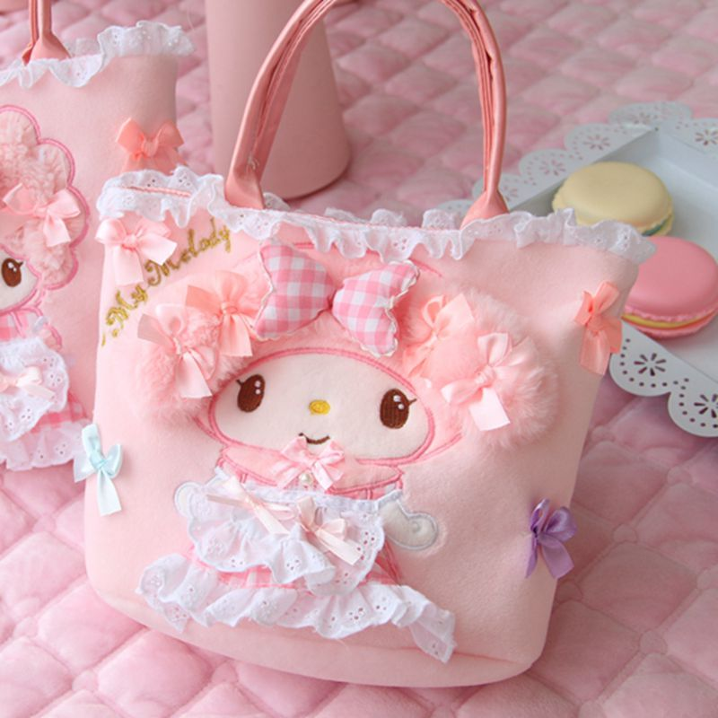 Nooer Kawaii Beautiful Girl Plush Backpack Toy Woman Plush Lunch Bag Backpack Kids Child Children Birthday
