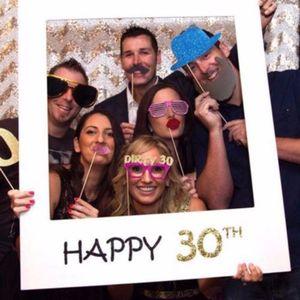Забавный возраст 16-80th 21st рамка фото стенд реквизит с днем рождения бумаги Вечеринка клуб Photo Booth Реквизит инструмент домашний декор