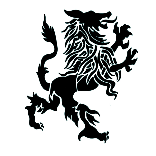 Lion Symbol Authority And Power Waterproof Temporary Tattoos Sticker