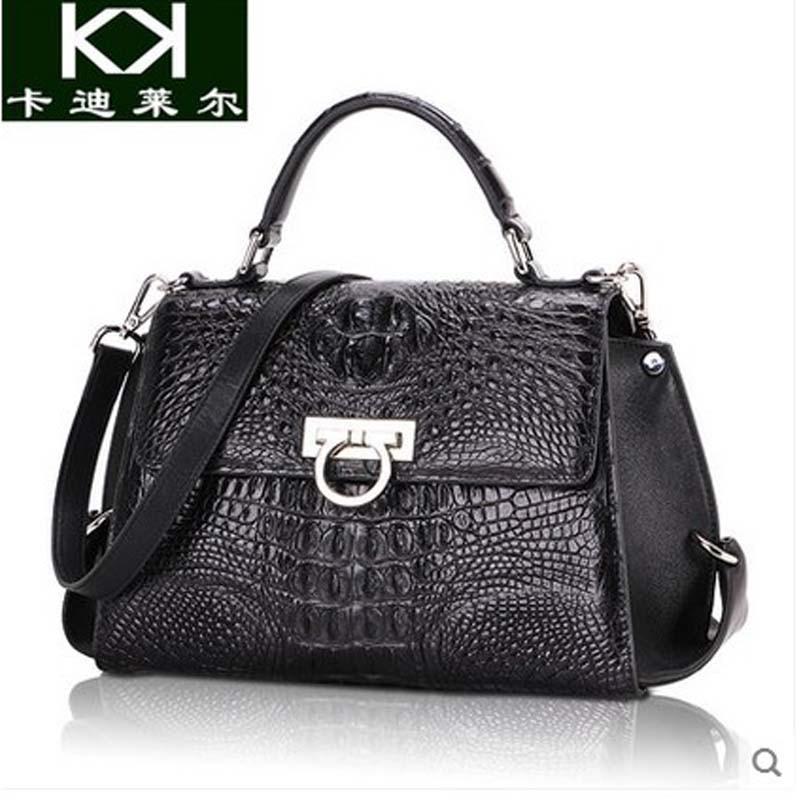 kadiler Thailand crocodile handbag font b women b font handbag leather single shoulder inclined shoulder font
