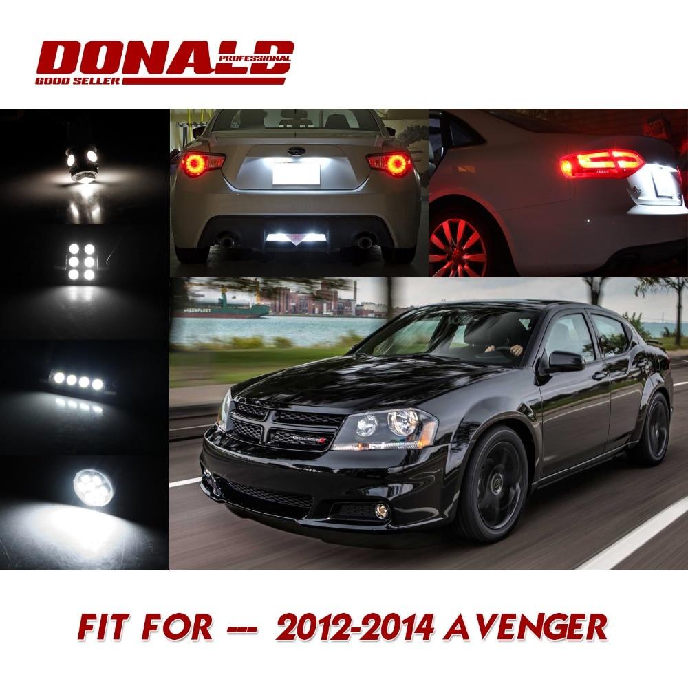 2 pcs white license plate interior led light package kit for dodge 2012 2014 avenger in car for 2012 dodge avenger interior lights