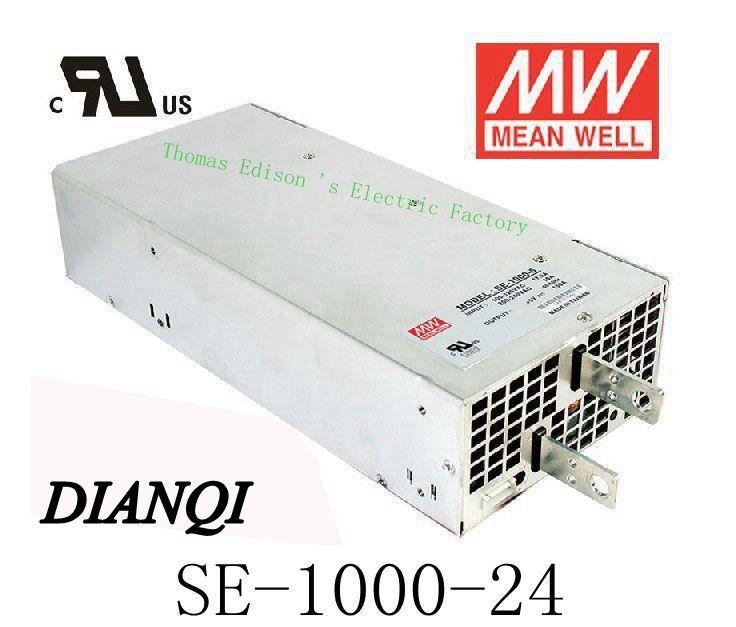 все цены на power supply SE-1000-24 Original MEAN WELL power suply unit ac to dc 1000W 24V 41.7A MEANWELL led power supply онлайн