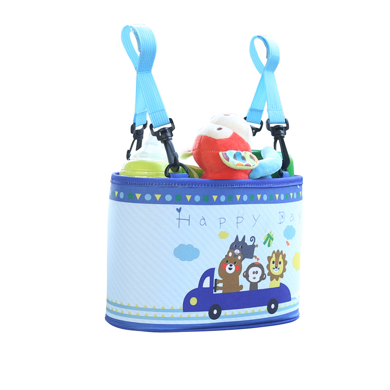 Cartoon Car Seat Back Organizer Fixed Baby bottle and Large Cup Pockets Storage Bag Car-styling Baby Travel Necessary Product