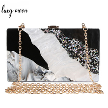 Acrylic Clutch Marble pattern evening bags luxury women clutch bag black white flap bag chains shoulder bag party purse zd932 red trunk clutch bag fashion brand diamond relief acrylic ballot lock luxury handbag evening bag clutch party purse shoulder bag