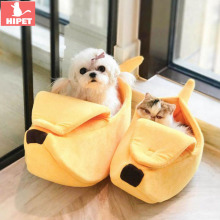 HIPET Banana Dog Cat Bed House Winter Warm Cozy Lovely Portable Medium Large Kitten Puppy Cave Nest Pet Basket Supplies