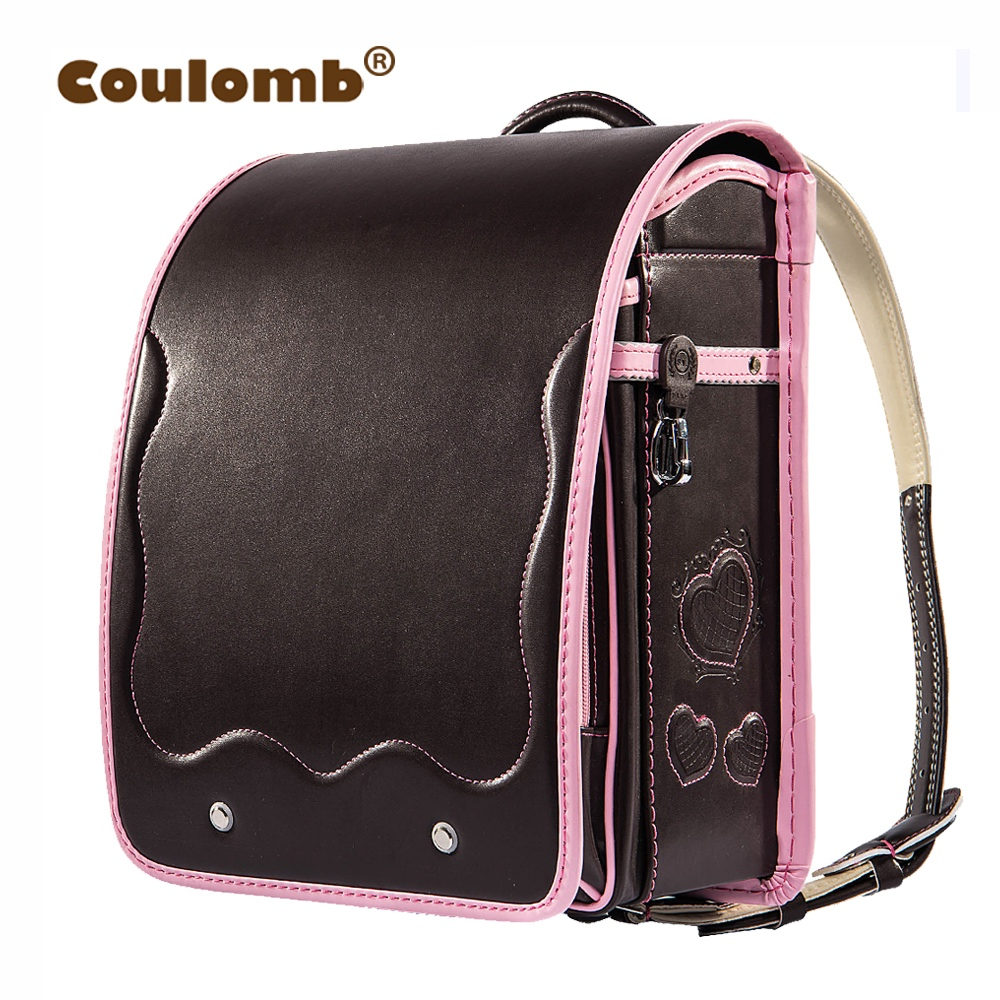 Coulomb Children Randoseru Orthopedic Backpack For Girl PU Leather School Bags For Kids LOVE Bags Student Princess Book Bags летние шины nokian 215 45 r17 91w hakka blue 2