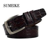 Genuine Leather Belt Men High Quality Luxury Male Waist Strap Crocodile Pattern Mens Luxury Belts
