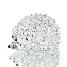 H&D Cut Clear Crystal Hedgehog Animal Figurine Collection Glass Ornament Wedding Gifts