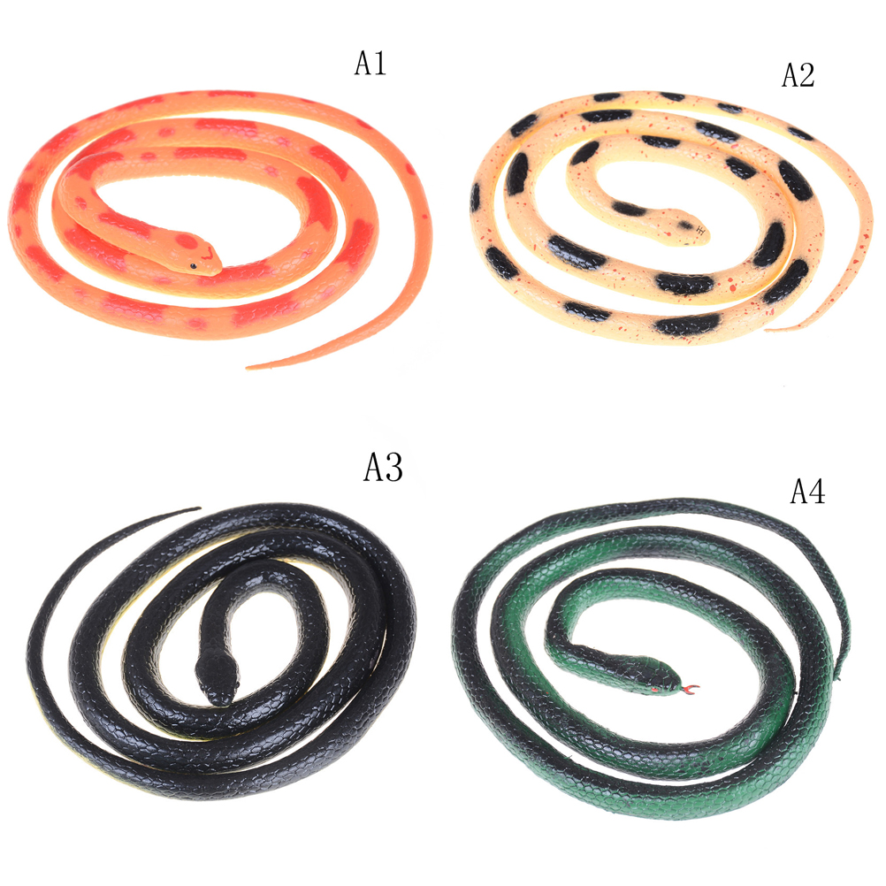 1pc Novelty Simulation Soft Scary Fake Snake Tricky Funny Spoof Horror Toy For Party Event Gift 4 Styles Fine Craftsmanship Gags & Practical Jokes Toys & Hobbies