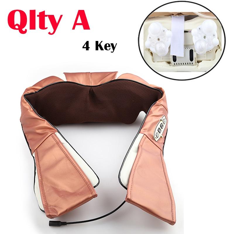 3d kneading shiatsu cervical back neck massager shawl and electric roller heat massage machine
