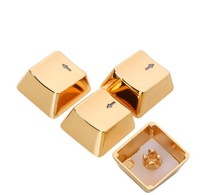 Golden silver Keycaps WASD and direction key for Cherry MX switches and Kaih switches Mechanical Keyboard Metal keycaps