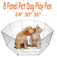 Ship From Germany Mountain Net 8 Panel Pet Dog Cat Exercise Pen Playpen Fence Yard Kennel