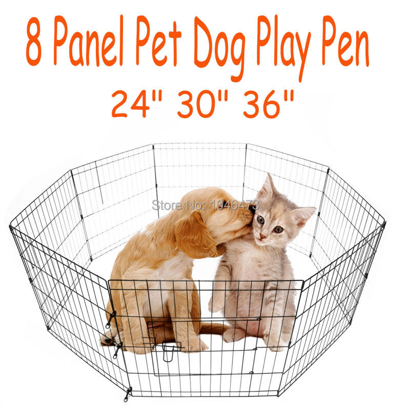 Ship from Germany! 8 panel Pet Dog Cat Exercise Pen Playpen Fence Yard Kennel Portable 24 30 36 pet attire sparkles dog collar 8 12in pink