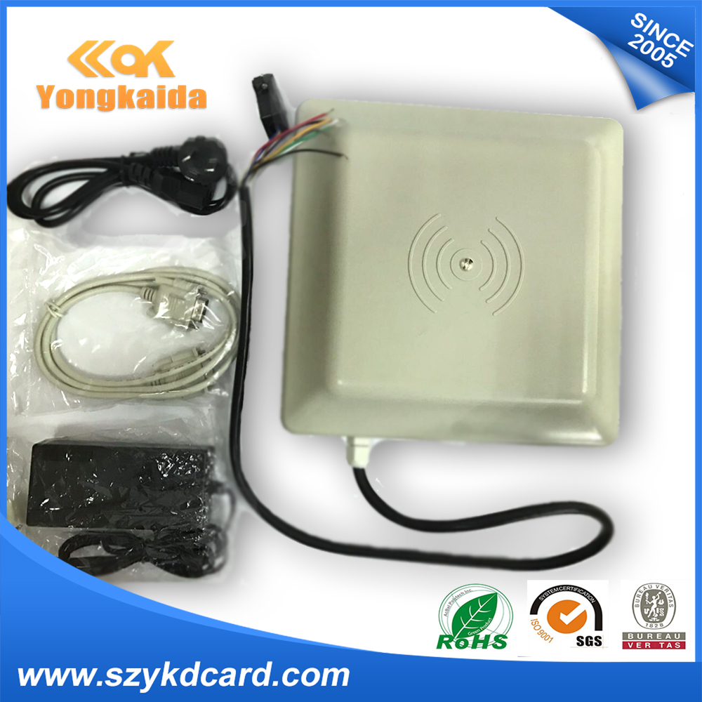 YongKaiDa Hot sale ! Wiegand 26 rs232 rs485 passive rfid reader 5M long distance read range 5M uhf rfid reader wiegand 26 input