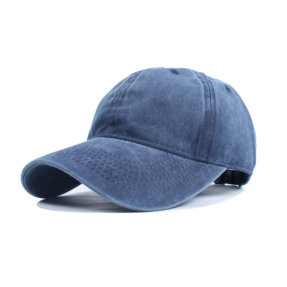 High-Quality-Washed-Cotton-Adjustable-Solid-Color-Baseball-Cap-Unisex-Caps-Fashi