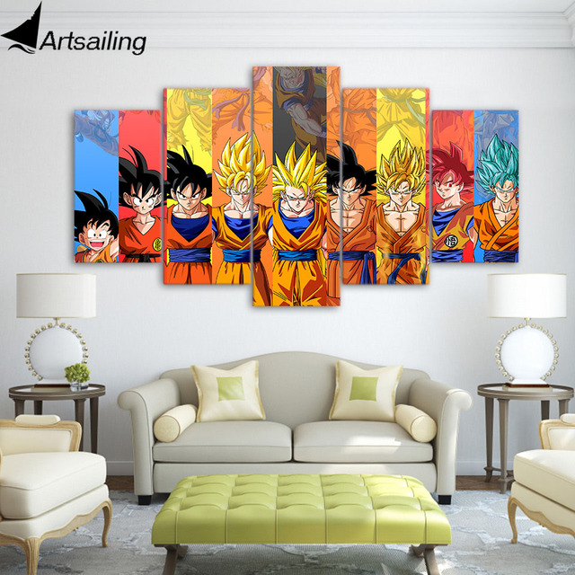 Dragon Ball Z poster Goku modeling canvas painting wall pictures