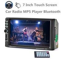 מותג חדש 10 שפות 7 inch מסך מגע שליטת גלגל הגה סטריאו לרכב רדיו נגן MP5 נגן MP4 Bluetooth FM/TF/USB