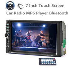 10 languages 2 DIN 7 inch Car Stereo MP5 Radio Player steering wheel control Touch Screen Bluetooth MP4 Player FM/TF/USB