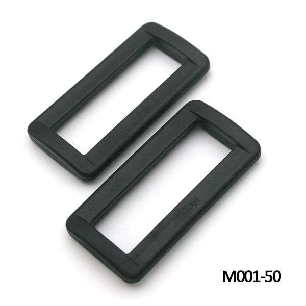 50pcs 50mm 2inch black adjustable buckles plastic slider