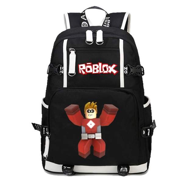 5be0ab866e3 anime Roblox backpack student school bag women men shoulder travel bag  Leisure Daily backpack Teenage Backpacks