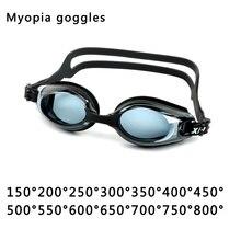 4a0e41c88c9 Professional Silicone myopia Swimming Goggles Anti-fog UV Swimming Glasses  for Men Women diopter Sports