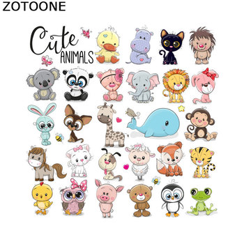 ZOTOONE Child Cute Animal Owl Set Heat Transfers for Clothes Applications DIY Iron on Transfer Patches Cute T-shirt Sticker E zotoone owl animal heat transfer patches for clothing sticker diy cute iron on letter transfert thermocollants t shirt printed g