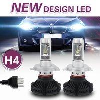 2Pcs 3 Kind Of Color DIY 9005 9006 H4 H11 H7 H8 LED Headlight Bulbs X3