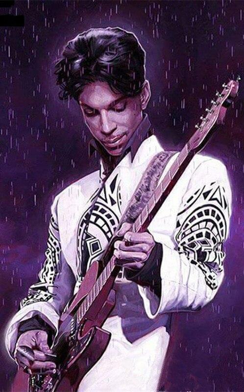 Prince Christmas Decorations.Full 5d Diamond Painting Singer Prince Purple Rain Cross