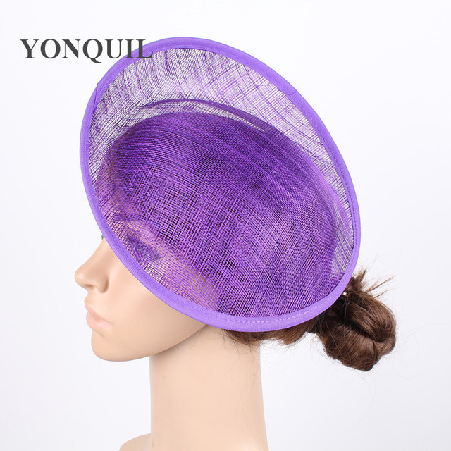 324e878d31fb1 2018 Purple or 12 Colors 25CM SINAMAY Fascinator Base New DIY Women Party  Fascinator Hat Base