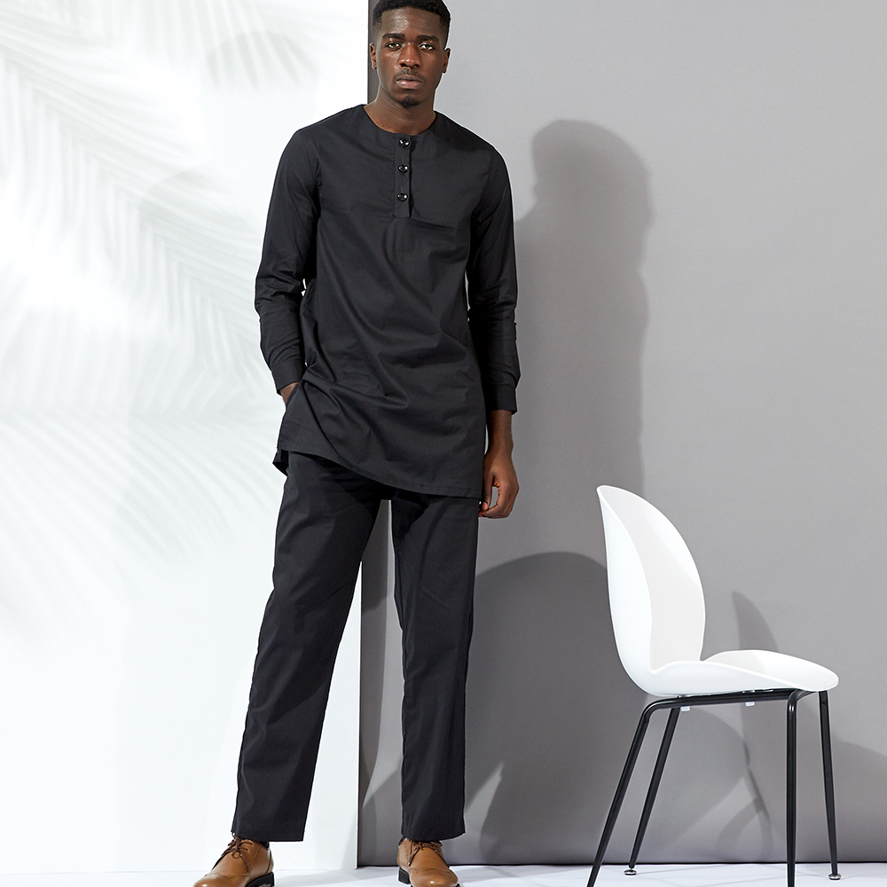 african men bazin clothing men suits tops shirt pant 3pieces set Stitching wax material cotton african mens clothing in Africa Clothing from Novelty Special Use