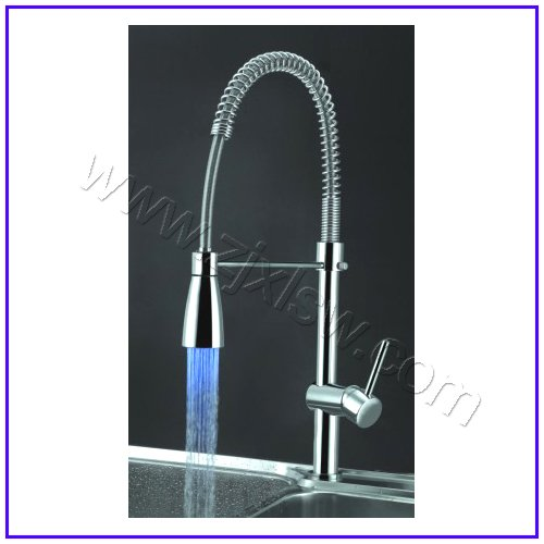 Retail Luxury Brass LED Kitchen Faucet, Pull out Kitchen Faucet, New ...