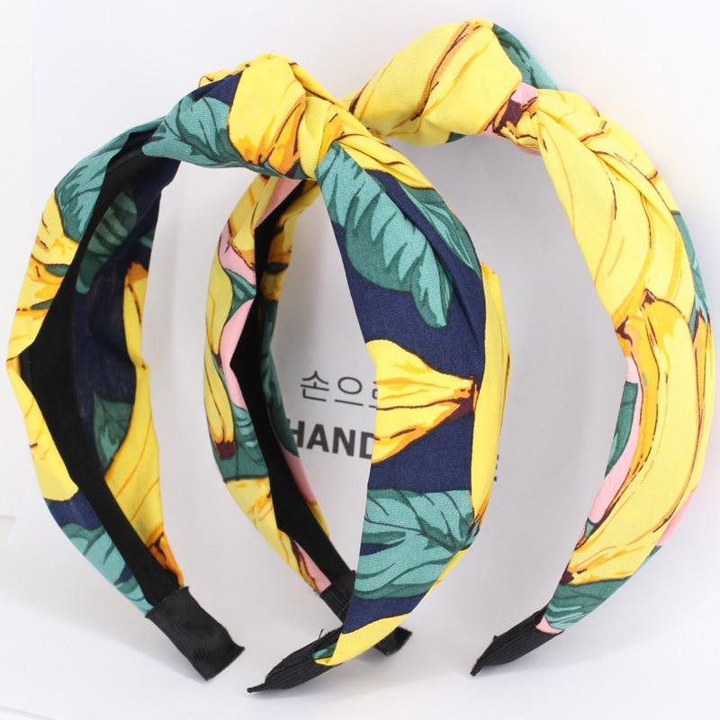 Unid 1 pieza novedad cinta para el pelo bandas para el pelo de algodón elástico para mujer diadema deportiva para Mujer Accesorios para el cabello