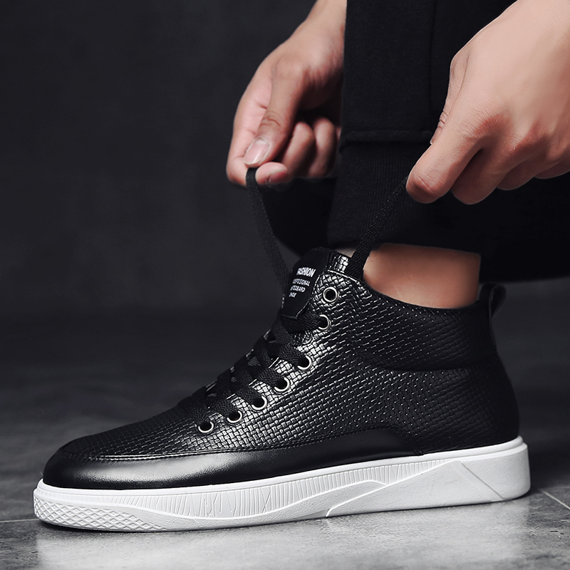 4b58b93a638 2017 New Styles All White Star Lace up Skateboarding Shoes Zapatos Hombre  High Top Waterproof Sneakers Men Sapato Masculino-in Skateboarding from  Sports ...