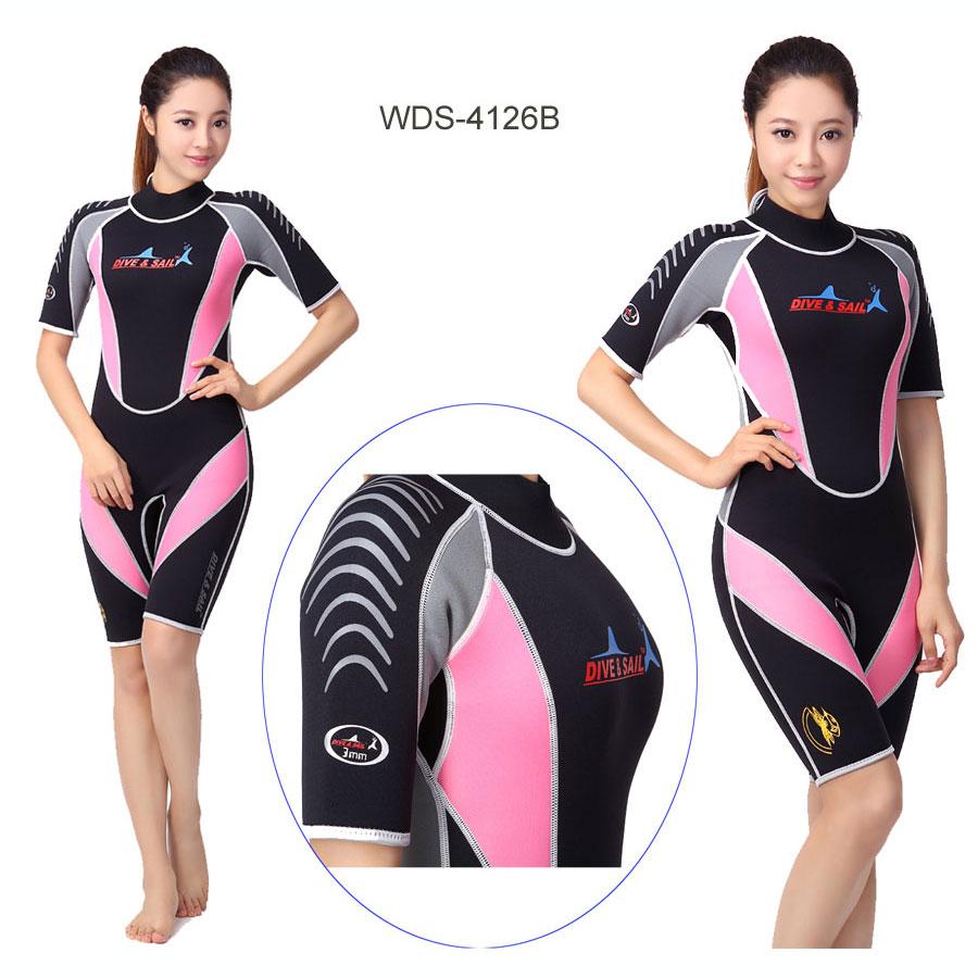 Dive & Sail 3mm Sport Shorty Scuba Diving Wetsuit Men's Blue or Women's Pink NEW chillaz sandras shorty