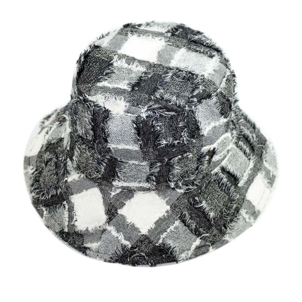 100% Baumwolle Eimer Hüte Frauen Patchworks Lappen Stil Panama Strand Caps Sonnenschirm Fischer Hüte Hip Hop Bob Boonie Eimer Kappen