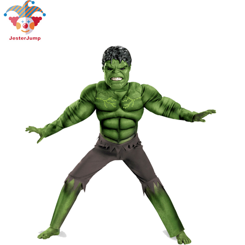 Avenger Hulk Costume For Girls Boy Anime Mask Cosplay Hulk Jumpsuit Rompers Halloween Costume For Children Kid Fantasy Hulk Suit