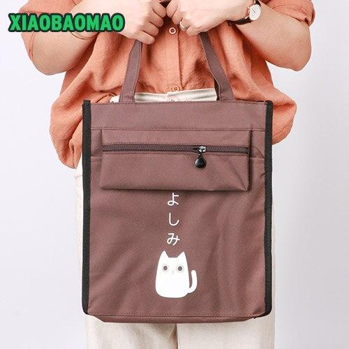 Handbag A4 Canvas File Bag Big Capacity Document Bag Business Briefcase Storage File Folder for Papers Stationery Student Gift
