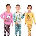 El Nuevo niño pijama de manga Larga Conjunto de pantalón Chándal de verano hello kitty ropa de Los Niños ropa de dormir niños de la Historieta ropa