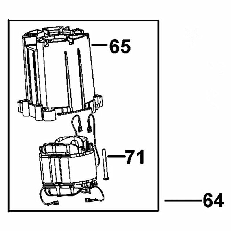 AC220V-230V N087485 Stator Field remplacer pour Dewalt D25960 D25961KAC220V-230V N087485 Stator Field remplacer pour Dewalt D25960 D25961K