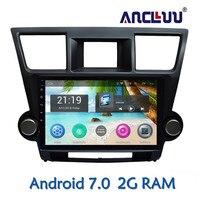 Ancluu 10.1 inch Android 7.0 Car DVD Player GPS For Toyota Highlander 2009 2010 2011 2012 2013 audio car radio stereo navigator