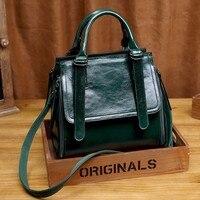 Kajie Luxury Genuine Leather Handbags Women Bags Brand Designer Female Crossbody Bags For Girl Retro Shoulder Bag Bolsa Feminina