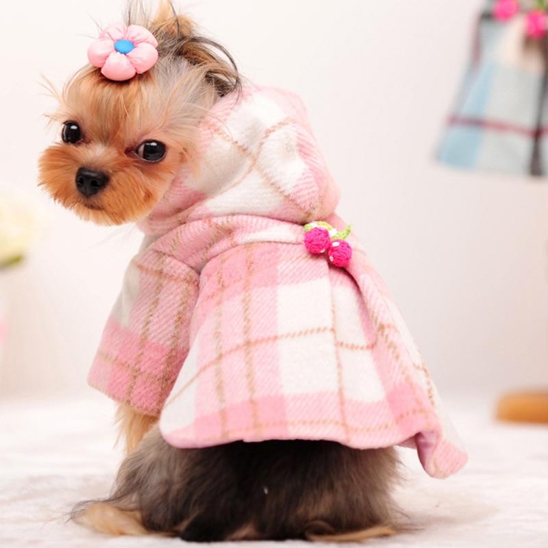 Winter warme elegante Nette Hund luxus wolle trenchcoat