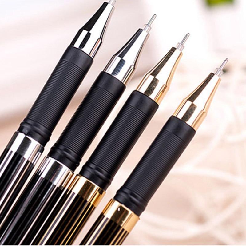 High quality Black Gel Pen 0.5mm 12PCS/package gel ink pen Office & School Supplies Pens Writing Supplies Gel Pens fine tech gel pen 12 pack black ink