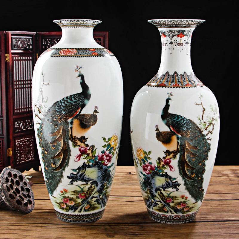 Aliexpress Buy Jingdezhen Antique Peacock Vase Chinese Vases