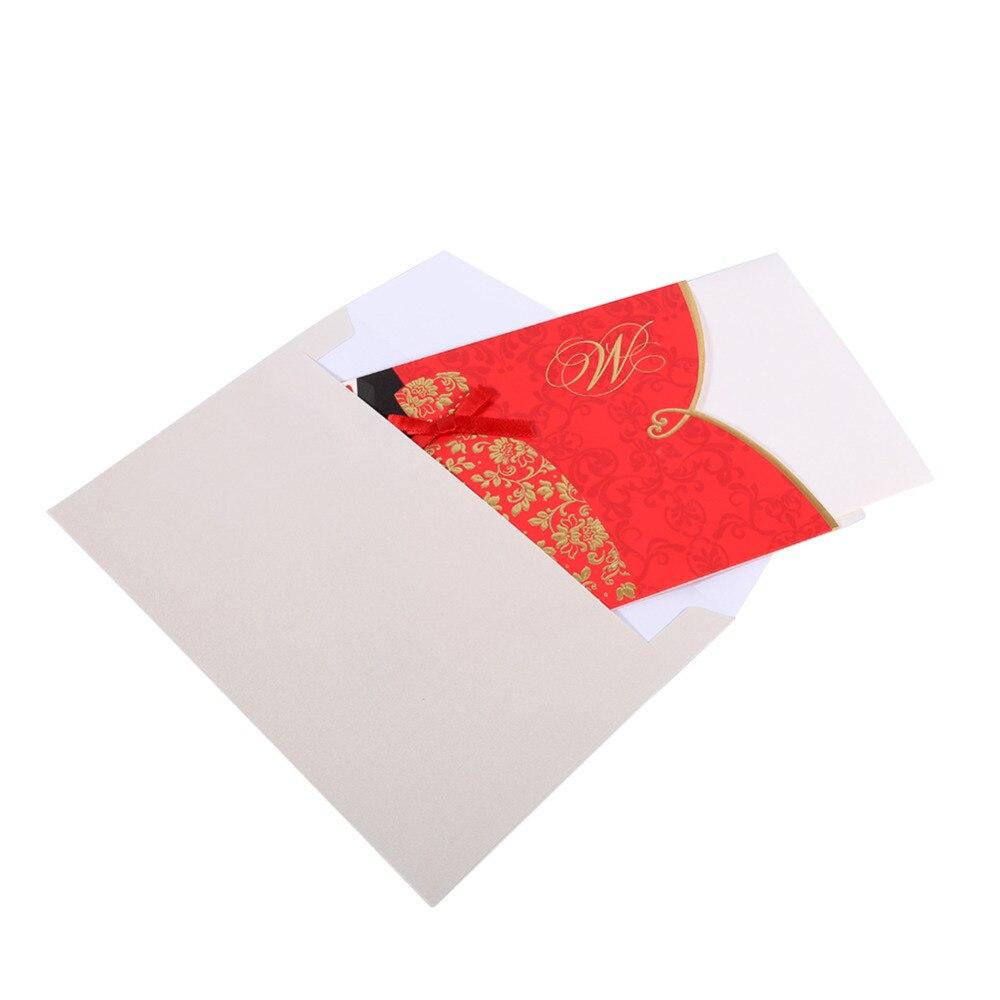 Wedding Invitation Card 10pcs 2Colors Damask Flower Silk Ribbon ...