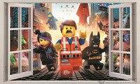 2016 HOT 60x100cm LEGO MOVIE 3D Window Kid Decal WALL STICKER Decor Art Mural Emmet Benny