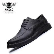 5f82cca7d DESAI обувь модные корейский Британский Мужская обувь Демисезонный Летние  кожаные дышащие плоские Деловые повседневные туфли оптовая